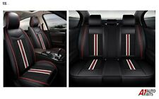 High-Quality Deluxe Black PU Leather Full Set Car Seat Covers Fit