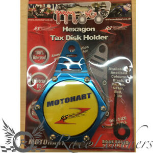 RS BLUE MOTORCYCLE MOTORBIKE QUAD BICYCLE TAX PARKING DISC PASS HOLDER