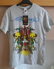 Ed Hardy light grey T shirt size (m) 40in chest