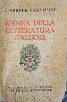 Storia della Letteratura italiana vol. III  (Giuseppe Fanciulli,  1940) - ER