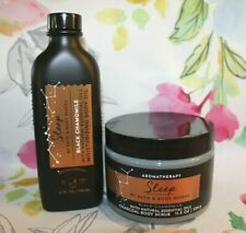 Bath & Body~Aromatherapy~SLEEP~Black Chamomile~Moisturizing Oil~Charcoal Scrub
