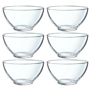 6x Luminarc Aribo 500ml Tempered Glass Cereal Bowl Breakfast Microwave Safe Soup