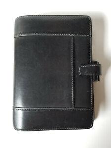 Filofax Hampstead Personal Organizer Address Book Agenda Planner Black Leather