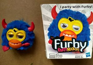 FURBY PARTY ROCKERS SCOFFBY ELECTRONIC INTERACTIVE PET BLUE RED HORNS