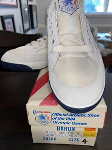 Vintage Converse Official Shoe Of 1984 Olympics Unisex Kids Sz 4 NOS NIB Sneaker