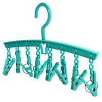 Hangerworld™ 8 Peg Plastic Indoor Sock Hanger Underwear Laundry Clothes Dryer