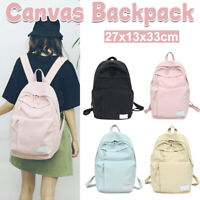 Fashion Womens Girls Canvas School Backpack Shoulder Bag Travel Sport Rucksack