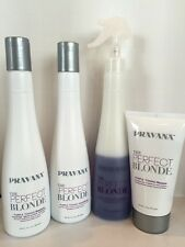 PRAVANA THE PERFECT BLONDE PURPLE TONING COMBO-SHAMPOO, CONDITIONER, SPRAY, MASK