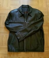 Jeanette Andral Men's Leather Jacket Size M Black