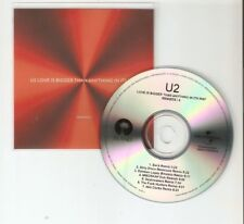 U2 'LOVE IS BIGGER THAN ANYTHING IN ITS WAY' REMIXES PART 4  BRAZILIAN CD PROMO