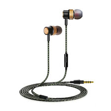 Earphones Wood Cavity Stereo 3.5mm In Ear Headphones Earbuds Headset Corded