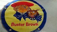 one Large Buster brown advertising carpet from the 80's