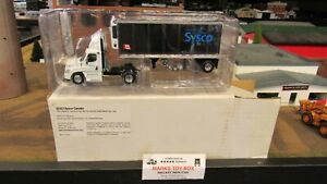 DCP#32423 SYSCO FOODS CANADA FL CASCADIA SEMI CAB TRUCK REEFER TRAILER 1:64/PL