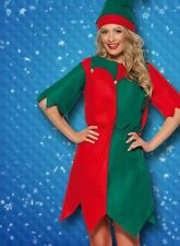 Mens Ladies Elf Tunic Costume Fancy Dress Medium 12-14 Christmas Santas Helper