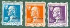 CIRENAICA. Anno 1927, serie Volta. 3 valori nuovi con gomma integra.