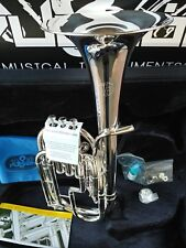 Brass Bright Fever Deluxe Alto Horn Silver Plated Charcheta Saxor New Nuevo Fast Shipping Musical Instruments & Gear