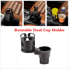 Multifunction Car Cup Holder Carbon Fiber Dual Hole Holder For Car SUV Truck Van