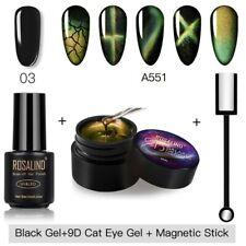 Gel Nail Polish 9D Katze Augen Manicure Set Hybrid Base Gel Magnetisch Nagellack