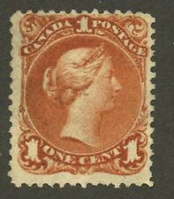 Canada 1868 Large Queen 1c brown red 'Thin Paper' #22b Mint