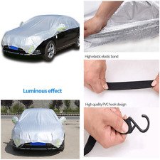 Half Cover Car Cover Outdoor Fit Water Proof Rain Sun Dust Shade Reflective 1Pcs