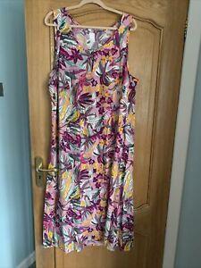 New Amazing Ex M&S Midi Dress Size 22 Multicoloured Stunning On