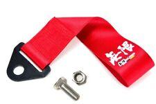 Universal JDM Red MUGEN Racing Drift Rally Car Towing Strap Belt Hook