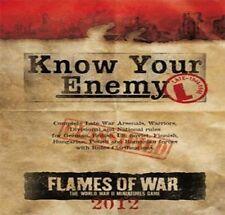 Flames of War BNIB conocen a su enemigo-tarde Guerra 2012 Edición fw221