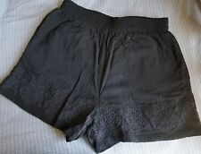 juniors forever 21 Small shorts black with embroidery