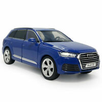 1:32 Scale Audi Q7 SUV Model Car Diecast Gift Toy Vehicle Kids Blue Sound Light