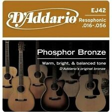 10 Pack! D'Addario EJ42 Resophonic 16-56 Phosphor Bronze Acoustic Guitar Strings
