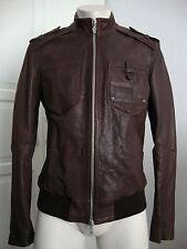 Galliano Leather Jacket Giubbotto Pelle Uomo Giacca di Pelle Tg 48 NUOVO con etichetta