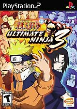 Naruto: Ultimate Ninja 3 (Sony PlayStation 2, 2008) PS2 GAME COMPLETE DISC ONLY