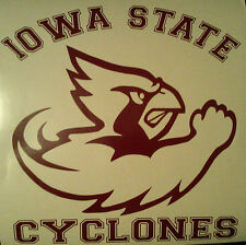 IOWA STATE CYCLONES CORNHOLE DECALS - 2 DECALS Vinyl Vehicle Decals Free Circles