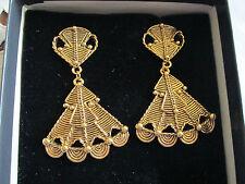 Jose Maria Barrera for Avon Mayan Style Clip Dangle Earrings**NIB**1994  signed