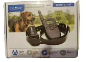 Petrainer PET998DB  Blue LCD Display Remote Dog Training Collar Rechargeable