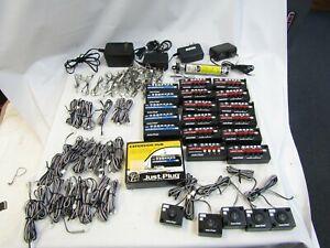WOODLAND SCENICS JUST PLUG 70+ PIECE LIGHT& EXPANSION HUBS, POWER, CABLES, LITES
