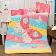 LIMITED EDITION BUTTERFLY BABY GIRLS CRIB NURSERY BEDDING SET 6 PCS