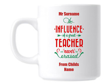 Personalised Thankyou Lovely Quote for Teacher Gift Mug Coffee Cup