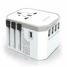 Universal Travel Adapter, Tesyker with 4 USB Ports, Type C and AC Outlets Travel