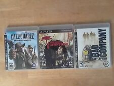 3-game PS3 Bundle, Dead Island / Bad Company / Call of Juarez Shooter Lot!!!
