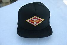 DIAMOND T TRUCK HAT WITH PATCH ADJUSTABLE SNAPS COLOR NAVY BLUE)