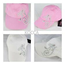 berretto cappello da per donna estivo in di cotone con visiera Kocca bianco rosa