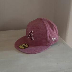 Atlanta Braves 59FIFTY MLB Maroon Fitted Baseball Cap - size 7 1/4