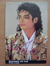 MICHAEL JACKSON -  Remember The Time  - Lyric Card + Autograph (print)