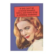 """Retro Humour """"If She Can't Be A Good Example"""" Greetings Card Birthday Gift Funny"""