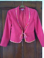 A Monsoon Pink Silk/linen Jacket . Very Pretty