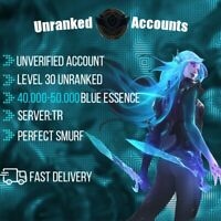League of Legends TR 40-50k BE Lol Smurf Lvl 30+ UNVERIFIED Unranked Account