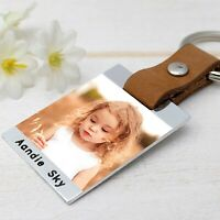 Personalised Photo Keyring Custom Daddy Keychain Photo Key Chain Gift for Him