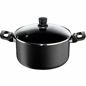 Tefal E42646 Pro Style 24 cm Stockpot with Safety Glass Lid 5L Induction