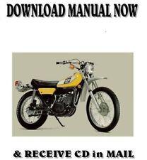 1975 Yamaha DT400B factory repair service shop manual on CD